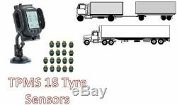 Tyre Pressure Monitoring System for TRUCK 18 tyre sensors