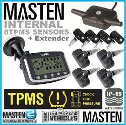 Tyre Pressure TPMS Monitoring System Internal Valve Sensors x 8 Caravan Truck