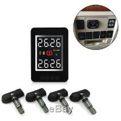 U912 Car Wireless Tire Pressure Monitoring System 4 Internal Anti-theft Sensors