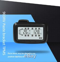Universal LCD TPMS Tire Pressure Monitor System 8 Sensors + Repeater For Trailer