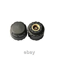 Wireless Monitoring Tyre Pressure TPMS System External Sensors x 2 Motor Cycle