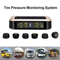 Wireless TPMS Tire Pressure Monitoring System 6 Sensors Digital Display For RV