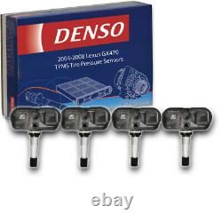 4 Pc Capteurs De Pression De Pneus Denso Tpms Pour Lexus Gx470 2004-2008 Surveillance Si