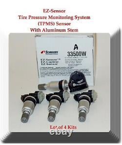 4 X Tpms Capteur Système De Surveillance De La Pression Des Pneus Fitscadillac Chevrolet