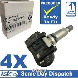4x Capteur De Surveillance De La Pression Des Pneumatiques Tpm Pour Bmw 1 2 3 4 X1 X2 X5 Mini