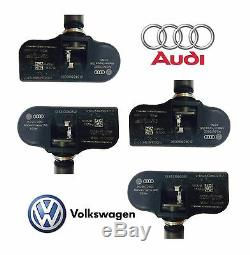 4x Volkswagen Pour La Pression Des Pneus Tpms Audi Surveillance Du Capteur 315 Mhz