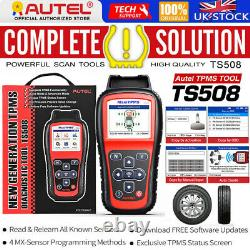 Autel Maxitpms Ts508 Obd2 Surveillance De La Pression Des Pneus Tpms Réinitialisation Outil De Programmation