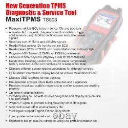 Autel Maxitpms Ts508 Tpms Relearn Tool Moniteur De Pression De Pneus Reset Tool Program