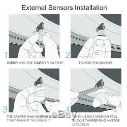Careud 903-wf Voiture Tpms Pneus Système De Surveillance De La Pression Tpms + 4 Capteurs Externes
