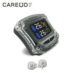 Careud M3-b Moto Tpms Pneus Système De Surveillance De La Pression + 2 Capteurs Externes