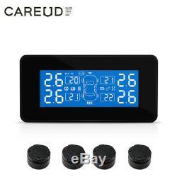 Careud T812tl Voiture Tpms Pneus Système De Surveillance De La Pression Usb + 4 Capteurs Externes