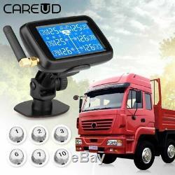 Careud U901t Car Truck Tpms Pneus Système De Surveillance De La Pression + 6 Capteur Externe