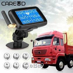 Careud U901t Surveillance De La Pression Des Pneus Sans Fil Système Tpms 6 Poste Senor Pour Camion