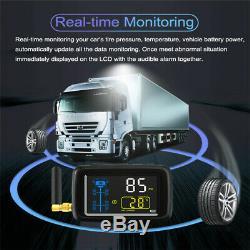 Careud Voiture Tpms Pneus Système Surveillance De La Pression + 6 Capteur Externe Pour Le Camion Van
