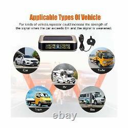 Elikliv Solar Tire Pressure Monitoring System For Rv Trailer, Tpms Wireless M