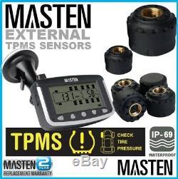 Et La Pression Des Pneus Tpms Surveillance Système Sans Fil Externe Capteurs LCD X 6 Caravan