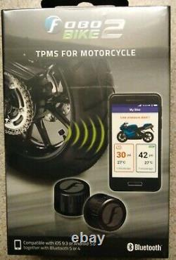 Fobo Bike 2 Noir Bluetooth 5 Tyre Pressure Monitor System Tpms Ios Android