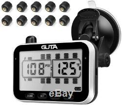 Guta Tire Pressure Monitoring System-10 Capteur Externe (0-188 Psi) Tpms, 7 Alar
