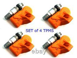 Huf Beru Bmw Mini Tpms Capteurs De Moniteur De Pression Des Pneus Rde012 (ensemble De 4) Nouveau