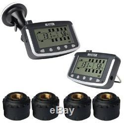 LCD Sans Fil Tpms Voiture Camion Roue La Pression Des Pneus Système De Surveillance De Température 4 Capteur