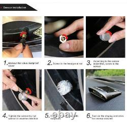 LCD Solar Tpms Tyre Pressure Monitor System 8 Capteur Avec Répéteur Pour Remorque Rv