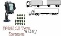 La Pression Des Pneus Système De Surveillance Pour Camion 18 Capteurs De Pneus