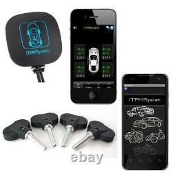 Masten Tpms Tyre Tire Pressure Monitor System Car Motorcycle Pour Android Ios