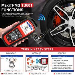Maxitpms Ts601 Obd2 Autel Pneus Surveillance De La Pression Tpms Réinitialiser L'outil De Programmation