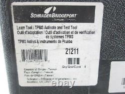 Nouveau Schrader Tpms Learn & Test Tool 21211 Activation Et Diagnostic Avec Le Cas