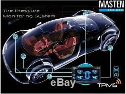 Pneu Système De Surveillance De Pression 8 Vanne Interne 22 Capteurs DVD Tpms Set Voiture