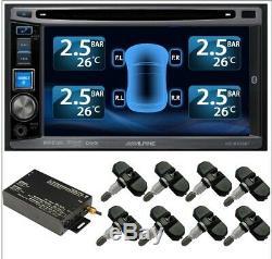 / Pneu Système De Surveillance De Pression 8 Vanne Interne 22 Capteurs Tpms DVD Set Voiture