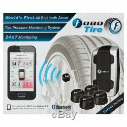 Pression Des Pneus Fobo Moniteur Tpms Bluetooth 4.0 3v Noir Android Et Ios Compatible