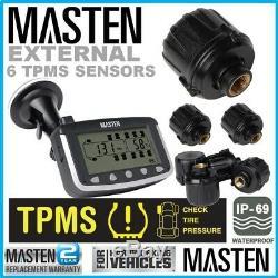 Pression Des Pneus Tpms 3.5 Surveillance Externe Heavy Duty Cap Capteurs X 6 Caravan