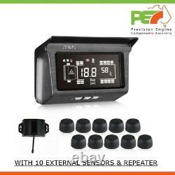 Solar Wireless 10 Tpms Système De Surveillance De La Pression Des Pneus Pour Western Star Truck