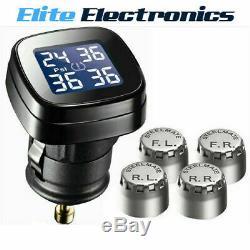 Steelmate-71p Tp Diy Système Sans Fil Tpms Tire Pressure Monitor 4 Capteurs Argent