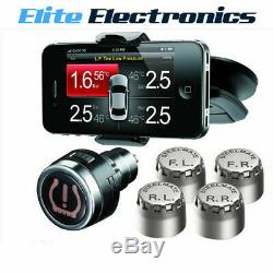 Steelmate Tpms8886 Tire Pressure Monitor Système D'argent Iphone Android Tpms8886