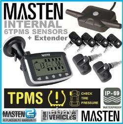 Surveillance De La Pression Des Pneus Tpms Capteurs De Soupapes Internes X 6 Camion De Voiture Sans Fil LCD