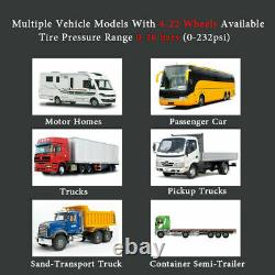 Système Camion Surveillance De La Pression Des Pneus Tpms 12 Capteurs Caravan / Motorhome