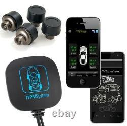 Système De Moniteur De Pression Des Pneus Tpms Bluetooth Car Motorcycle 4cap Sensors Extern