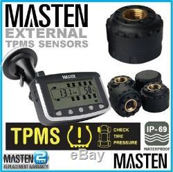 Système De Surveillance De La Pression Des Pneus Tpms Externe Cap Capteurs 4 X 4 Roues Motrices Caravan LCD