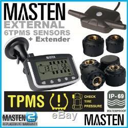 Système De Surveillance De La Pression Des Pneus Tpms Externe Cap Capteurs X 6 LCD Sans Fil Camion