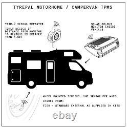 Système De Surveillance De La Pression Des Pneus Tyrepal. Solaire Avec 4 Non. Capteurs Pour Camping-car