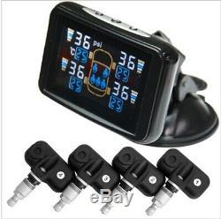 Système De Surveillance De La Pression -tyre LCD Capteurs Tpms Valve Interne X 4 Car, Caravane