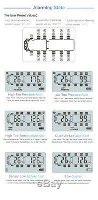 Système Surveillance De La Pression Des Pneus Tpms Numérique Universel 8 Capteurs + Répéteur Pour Rv