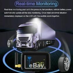 Tpms 8 Capteurs Système De Surveillance Des Pneus Pression Et Température Pour Caravane / Camion