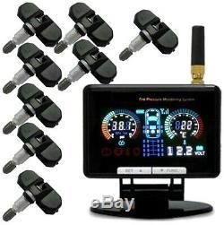 + Tpms 8 Système De Surveillance De La Pression Interne Des Pneus Capteurs Pneus De Voitures Caravan 12v24v