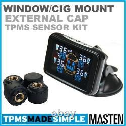 Tpms La Pression Des Pneumatiques Externe Capteurs Système LCD Sans Fil X 4 Bande-annonce
