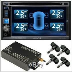 Tpms Pneus Système De Surveillance De Pression 4 Vanne Interne 22 Capteurs DVD Caméra Vidéo