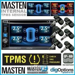 Tpms Pneus Système De Surveillance De Pression 6 Valve Interne 22 Capteurs DVD Vidéo Set Voiture