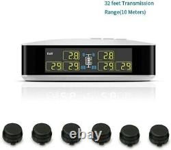 Tpms Tyre Temperature Pressure Monitor System 6 Capteurs + Répéteur Fit Truck Van